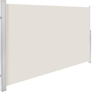 TecTake Seitenmarkise Sonnenschutz Sichtschutz Windschutz | Gehäuse und Standpfosten komplett aus Aluminium | - Diverse Farben und Größen - (Grau | 180x3Beige | 160x300cm | Nr. 401526)