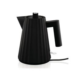 Alessi Wasserkocher Wasserkocher Plissé 1l, schwarz, 1 l