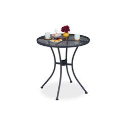 relaxdays Gartentisch Gartentisch mit Schirmloch