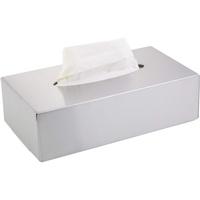 Testrut axentia Kosmetiktücherbox - Box für Kosmetiktücher - Taschentuchbox - Kosmetikbox als Spender oder Halter - Taschentuchspender mit Wandmontage - Tücherbox, Edelstahl, Silber, 24.5 x 13 x 7 cm