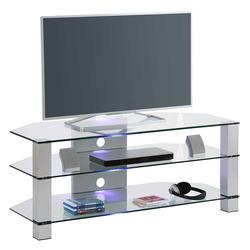 TV Tisch aus Sicherheitsglas Metall