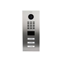 DoorBird DoorBird D2103V Video-Türstation V2A Edelstahl 3 Klingelknöpfe Smart Home Türklingel (Edelstahl)