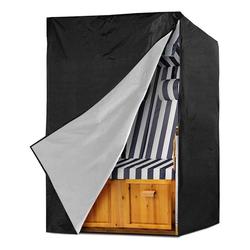 kueatily Strandkorb-Schutzhülle Strandkorbbezug, Strandkorbbezug, wasserdichter Strandkorbbezug, Schutzhülle mit Tragetasche für Strandkorb, Strandkorbbezug (135 x 105 x 175/140 cm).