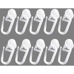 Gardinenröllchen Uniti, Good Life, U-Schienen, (Packung, 10-St), für U-Schienen 8 cm x 14 cm x 1,5 cm