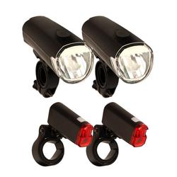BigDean Fahrradbeleuchtung 2x Fahrradlicht Set 30 Lux Vorderlicht Rücklicht Lampe
