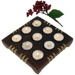 Guru-Shop Windlicht Kerzenhalter, Teelichthalter Keramik Nr.5