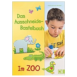 Das Ausschneide-Bastelbuch - Im Zoo. Andrea Küssner-Neubert  - Buch