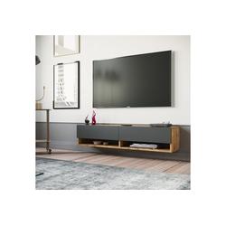 Yurupa Wohnwand TV Board hängend Lowboard Hängeschrank Hängeboard Wohnwand FR11-AA