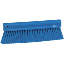 Vikan Mehlbesen, weich, 300 mm, Spezialbesen zur Entfernung feinster Partikel, Farbe: blau