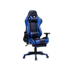 Woltu Gaming-Stuhl Gamingstuhl Racingstuhl Drehstuhl Kunstleder Modell Mario blau