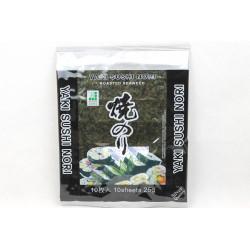 10 Yaki Sushi Nori Blätter für Sushi Seetang geröstet, 25g