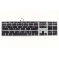 Matias Aluminum Erweiterte Tastatur DE spacegrau (FJ318LB-DE)
