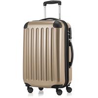 HAUPTSTADTKOFFER Alex - 4 Doppel-Rollen Handgepäck Trolley Rollkoffer Reisekoffer, TSA, 42 Liter, Champagner