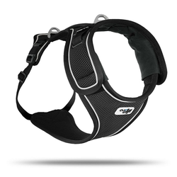 Curli Hunde-Geschirr Belka Geschirr, Polyester schwarz S - 48 cm - 66 cm