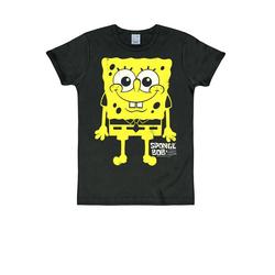 LOGOSHIRT T-Shirt mit Spongebob-Print Spongebob schwarz XL