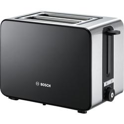 BOSCH Toaster TAT7203, 2 kurze Schlitze, für 2 Scheiben, 1050 W, mit Flächenheizung