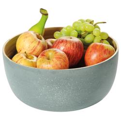 Kesper Obst- und Gebäckschale Bambus, Eignet sich ideal zum Servieren von Obst oder Süßigkeiten, Maße (H x B x T): 12 x 25 x 25 mm, betonoptik