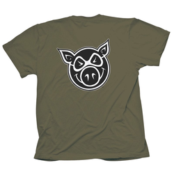 Tshirt PIG WHEELS - Pg F & B Head Tee Military (MILITARY) Größe: M