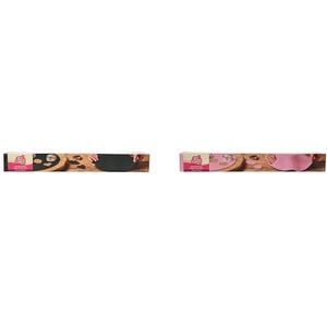 FunCakes Ausgerollte Rollfondant Disc Raven Black: Köstliches Vanille-Aroma, perfekt für die Kuchendekoration, 430 g & Ausgerollte Rollfondant Disc Sweet Pink: Köstliches Vanille-Aroma, 430 g