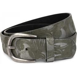 styleBREAKER Synthetikgürtel Gürtel mit Ornament Muster Gürtel mit Ornament Muster grün 80cm