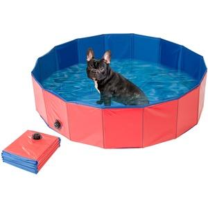 Faltbarer XL-Hundepool mit rutschfestem Boden, Ablassventil, 120x30 cm
