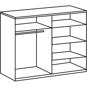 Wimex Schlafzimmer Set Nora, bestehend aus Bett, Nachschrank-Set und Kleiderschrank, Liegefläche 160 x 200 cm, Weiß/ Absetzung Anthrazit