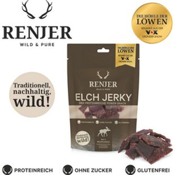 Renjer Trockenfleisch Elch, 25 g