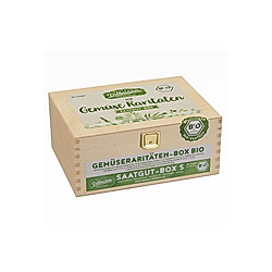Saatgut-Holzbox Gemüseraritäten  8 Saatgut-Sorten
