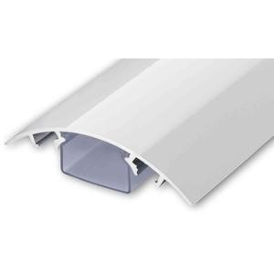 ALUNOVO TV Design Aluminium Kabelkanal in Weiss Hochglanz lackiert in verschiedenen Längen (Länge: 60cm)
