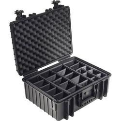 B & W Outdoor Box outdoor.cases Typ 6600 26l (B x H x T) 550 x 225 x 350mm Schwarz 6600/B/RPD
