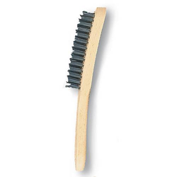 Handbürste Drahtbürste Handdrahtbürste Stahldrahtbürste VA-Stahl 2,3,4,5 reihig - Variante:5-reihig