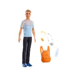 BARBIE Ken Reise Puppe (blond) mit Zubehör, Anziehpuppe, Modepuppe, Barbie Urlaub Spielset Mehrfarbig
