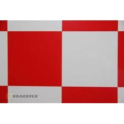 Oracover 691-010-023-002 Bügelfolie Fun 6 (L x B) 2m x 60cm Weiß, Rot