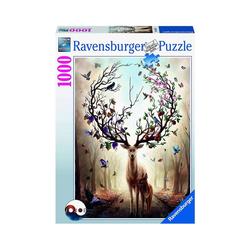 Ravensburger Puzzle Puzzle Magischer Hirsch, 1.000 Teile, Puzzleteile