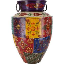 Guru-Shop Dekovase Vintage Metall Vase, Krug Rajasthan, handbemalt..