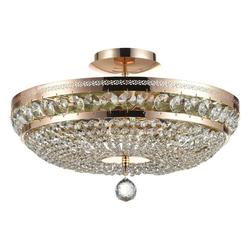 click-licht Kronleuchter Kronleuchter Ottilia E14 in Gold dimmbar 6-flammig, Kronleuchter Ø 43,5 cm x 26 cm