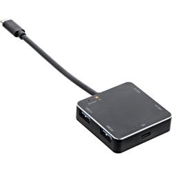 InLine® USB 3.1 Hub, USB Typ C zu 4 Port Typ A mit PD bis 60W, Aluminiumgehäu...