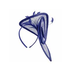 Lierys Strohhut Fascinator blau