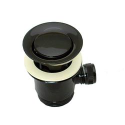 Ablaufgarnitur Excenter mit Überlauf für Waschbecken 1 1 /4 Zoll Schwarz