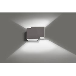 Licht-Erlebnisse Wandleuchte BLOX Up & Down Lampe Wand Grau Metall modern Flur Treppenhaus Lampe