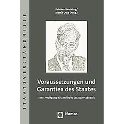 Voraussetzungen und Garantien des Staates - Buch