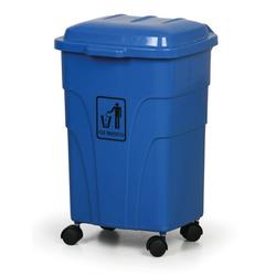 Mobiler mülleimer 70 liter, blau