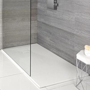 Weiß Stein Effekt rechteckige Duschwanne - verschiedene Größen verfügbar