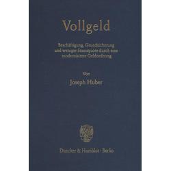 Vollgeld als Buch von Joseph Huber