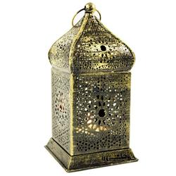 Guru-Shop Laterne Orientalische Metall Laterne in marrokanischem.. goldfarben