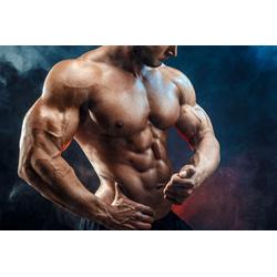 DesFoli Poster Bodybuilder Fitness Sport Sixpack P1305 120 cm x 80 cm