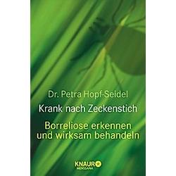 Krank nach Zeckenstich. Petra Hopf-Seidel  - Buch