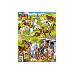 Larsen Puzzle 2er-Set Rahmen-Puzzle, 26 Teile, 28x18 cm,, Puzzleteile