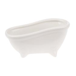 VBS Seifenschale Keramik-Seifenschale Badewanne, Breite: 7 cm, 15x7x7,2cm, weiß glänzend