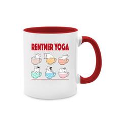 Shirtracer Tasse Rentner Yoga Katzen in Tassen - Tasse Berufe - Tasse zweifarbig - Tassen, tasse katzen yoga